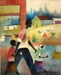Small Picture Food Truck Watercolor Print African American Art Contemporary