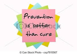 text prevention is better than cure written by hand font  text prevention is better than cure written by hand font on bunch of colored sticky notes stock photo