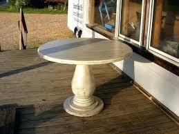 42 inch round pedestal table inch round pedestal table huge solid wood pedestal handcrafted distressed ivory