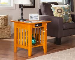 charging end table. Storage Space Underneath Charging End Table