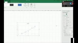 quadratic trend line with ter plot graph including equation in excel with jaws talking