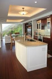 Image Home Kitchens With Tray Ceilings Kitchen Island With Custom Lighted Tray Ceiling Contemporary Kitchen Pinterest Kitchens With Tray Ceilings Kitchen Island With Custom Lighted