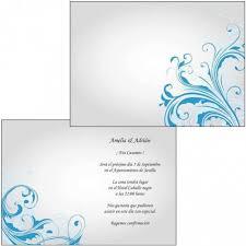Azul Invitacion Boda
