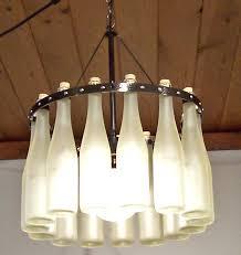 jr wine bottle chandelier split frosted hock bottles via homemade diy kitchen lighting