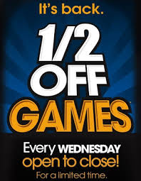 Dave And Busters Prices Chart Well Awake Dave And Busters 1 2 Priced Wednesdays