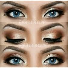perfect makeup for blue green eyes