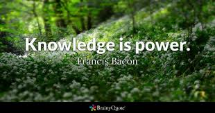 Knowledge Is Power Quote Cool Knowledge Is Power Quotes BrainyQuote