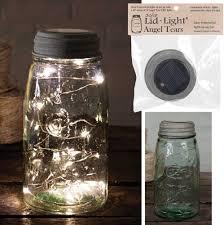 multi color outdoor solar jar design. Solar Powered Jar Lights @3\u0026quot; Diameter Includes A 46\u0026quot; String Of 12 Angel Multi Color Outdoor Design L