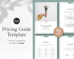 Pricing Templates For Services Pricing Guide Template Canva Template Price List