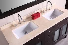 undermount rectangular bathroom sink. Undermount Rectangular Bathroom. Decoration Ideas. Extraordinary White Granite Counter Top On Black Wooden Bath Vanity Also Double Chrome Bathroom Sink E