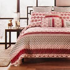 max studio holiday holiday nordic stripe red quilt twin