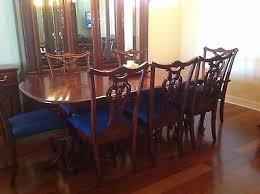 3 of 11 cherry wood heirloom pennsylvania house dining room set w lighted buffet server