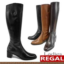 boots las regal regal leather boots women s knee high boots fs3gm