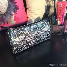 2016 high quality makeup victoria s secret lace leopard cosmetic bags retro beauty wash case zipper handbag