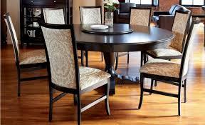 interesting furniture for dining room decoration using round pedestal black wood dining table astonishing image