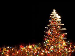Christmas Tree Lights Free Ppt Backgrounds For Your Powerpoint Templates