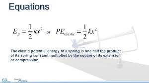 elastic potential energy 2 equations