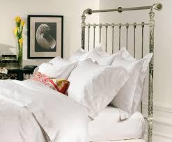 white iron headboard. Perfect Iron Iron U0026 Brass Sleigh Bed  Vintage White King Headboard On S