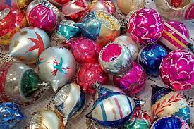 Vintage Christmas Tree Ornaments - Invitation Template