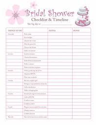 Bridal Shower Planning Checklist Free Printable Coloring