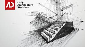 architecture drawing. Contemporary Architecture How To Draw Stairs In TwoPoint Perspective  Daily Architecture Sketches  21 Intended Drawing