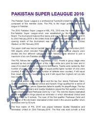 essay on super league psl education in karachi image contain text
