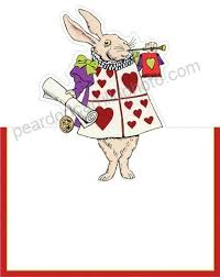 Alice In Wonderland Wedding Place Cards No Placecard Holders