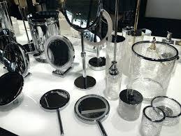 glass bathroom accessories etch glass bathroom accessories set silver mercury glass bath accessories
