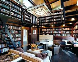 home office library. Home Office Library Furniture Decorating A Contemporary With Brown Armchairs