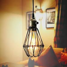 industrial retro vintage pendant celling light bulb hanging lamp shade holder