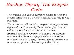narrative barthes five codes 30