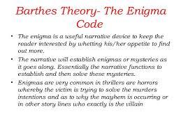 narrative barthes five codes 30