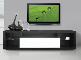 T544 TV Stand in Wenge & White by American Eagle Furniture