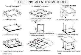 light panel led panel light installation guide pictures of led panel light installation guide