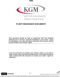 Kgm motor insurance was formed in 1957 … 6. The Fleet Insurance Document Pdf Free Download