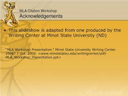 Ppt Mla Citation Workshop Aiming Toward The College Level Paper
