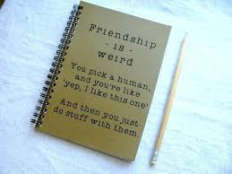 best friend gifts diy friend gifts awesome friendship is weird journal affordable holiday gifts for friends best friend gifts diy