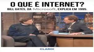 O que é internet? Bill gates responde em 1995 - YouTube