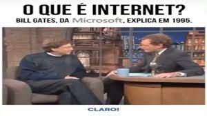 O que é internet? Bill gates responde em 1995 - YouTube