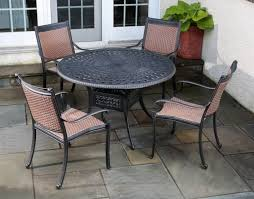 Aluminum Patio Dining Table Cast Furniture Stainless Steel Set