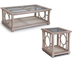 White Coffee Table And End Tables White Coffee Table Set Lana By Magnussen Mg T3045set