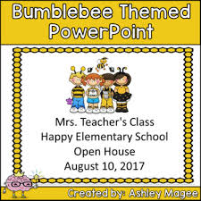 Open House Powerpoint Open House Or Back To School Powerpoint Presentation Bee Themed
