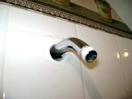 how to fix bathtub drain a shower leak behind the wall by sawing repair hole in