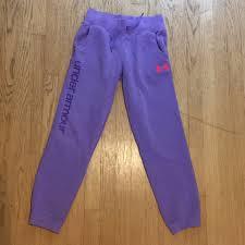 Under Armour Sweatpants Size Chart Under Armour Girls Size Large Purple Sweatpants
