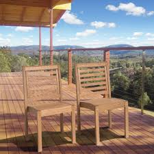 ia eucalyptus stackable patio chair set without arms