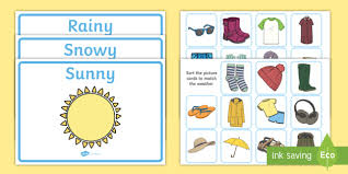 Weather Clothes Sorting Activity  clothes sorting activity weather and  the seasons clothes