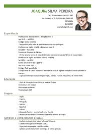 Corriculo Exemplo Modelo De Curriculum Professor Exemplo De Cv Professor De