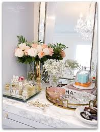 Bathroom Vanity Tray Decor Adding Glam To Your Boudoir A Blog Hop Perfume Display Vanity On 28