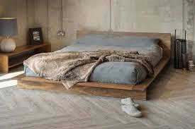 Flat Platform Bed Frame Queen Wood Storage Bed Queen Solid Wood ...