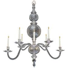extremely rare english george ii period cut glass chandelier for